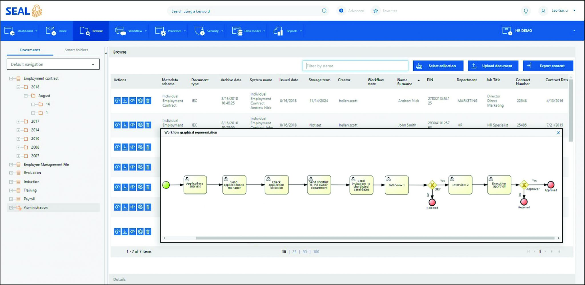 SEAL for HR Document Management and Automation